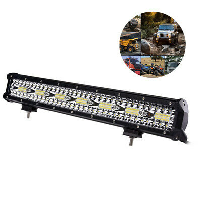 20 Inch 420W LED Work Light Bar Flood Driving Lamp Combo Car Truck Offroad SUV