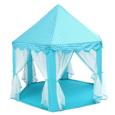 """Large Princess Castle Tulle Play House Indoor Outdoor Kids Game Play Tent 53x55"""""""