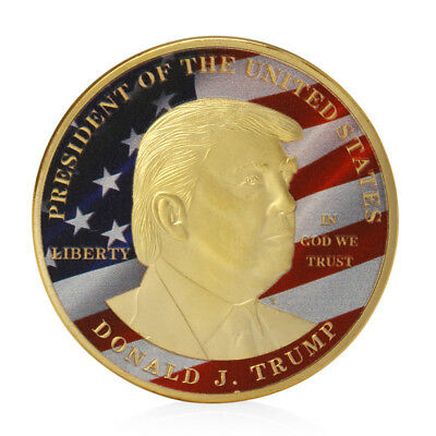 USA 45th President Donald Trump Challenge Coin Medal Make America Great Again