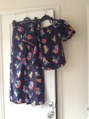Very Pretty Girls Riverisland Pants Set Age 9-10 Worn Once Excellent Condition