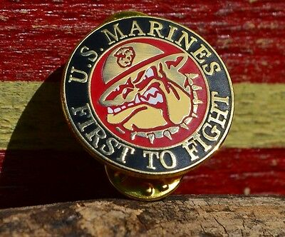 United States Marine Corps First to Fight Tie, Hat, Lapel Pin - USMC - Chesty