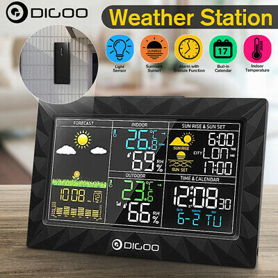 DIGOO Wireless Weather Station LCD Thermometer Barometer Humidity Indoor Outdoor