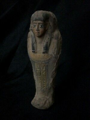 EGYPTIAN ANTIQUE EGYPT MUMMY Shabti Ushabti PHARAOH STATUE Carved STONE 300 BC