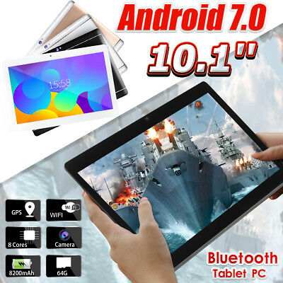4 Types 10.1'' 4G+64GB Android 7.0 HD IPS Tablet PC Octa 8 Core bluetooth 2 SIM