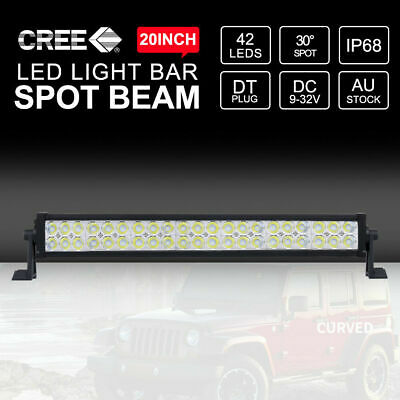 20inch CREE LED Light Bar 126000LM Two Rows SPOT Beam Work Driving 4WD 4x4