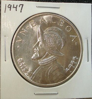 1947 Large Silver Balboa Coin from Panama