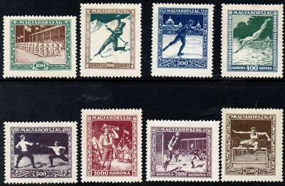 SoD Hungary 1925 Sports Fund set fine hinged mint SG 452-459 Cat £120