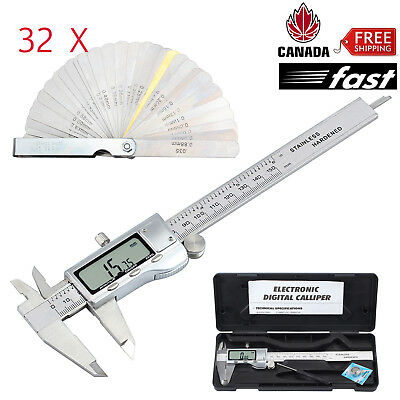 Digital Vernier Caliper Feeler Electronic Gauge Stainless Steel Measuring Tool