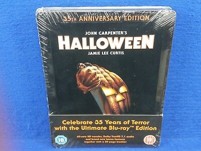 blu-ray HALLOWEEN 35th Anniversary Steelbook Edition NEW & SEALED UK EXCLUSIVE