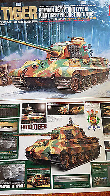 +++  Tamiya RC King Tiger - KÖNIGSTIGER 1:16 FULL OPTION  PANZER TANK ++++