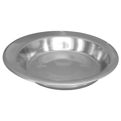 Non Slip Stainless Pet Bowl Feeder Cat Kitten Puppy Dog Shallow Saucer Dish