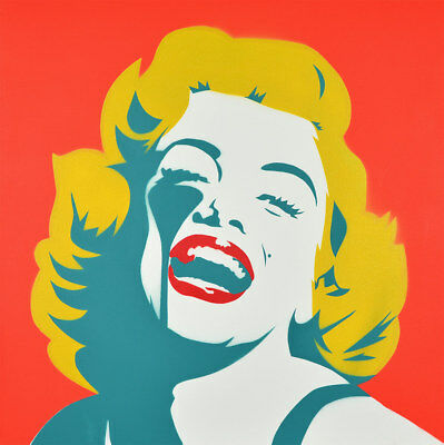 PURE EVIL - Screaming Marilyn Monroe CANVAS | Urban art, Street art, Pop Art