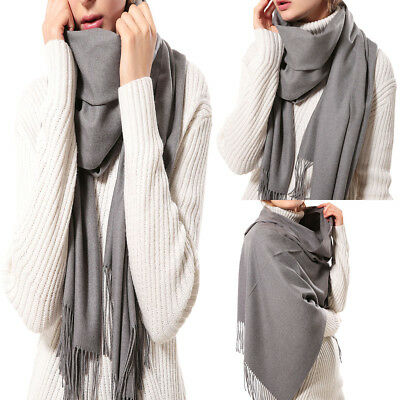 Women Tassel Long Soft Cashmere Ladies Scarf Wrap Voile Shawl Stole Scarves Gift