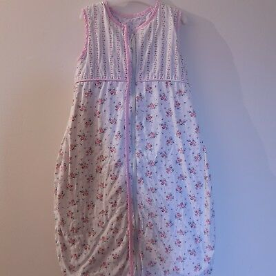 Cath Kidston Baby Girl Sleeping Bag Grobag Floral 6-12 Months