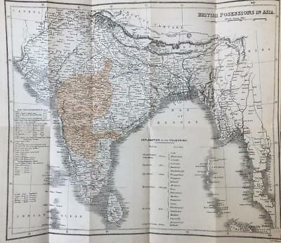 1840 Major General Briggs, Cotton Trade Of India. Folding Map 1St Edition Signed