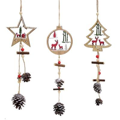 Wooden Christmas Tree Pendant Door Closet Window Hanging Home Decoration Gift