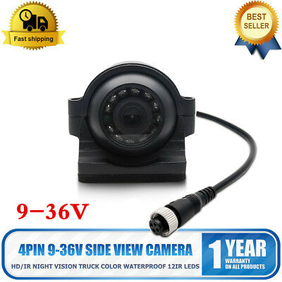 Bus Heavy Duty Side View Camera Truck Color Waterproof 4 Pin 9-36V 12IR LEDs