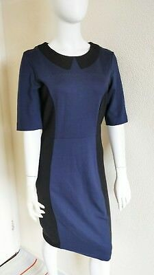 Ladies NEXT Panel Office Shift Dress With Faux  Peter Pan Collar  Size 14