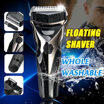Rechargeable Electric Dual Shaver Cordless Razor Washable Trimmer Body Grooming
