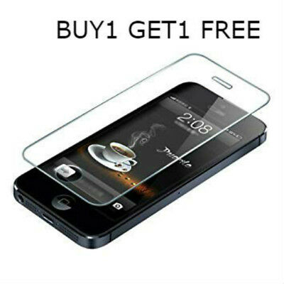 100%genuine Tempered Glass Screen Protector Cover For Iphone 5 5S Se Retail Pack