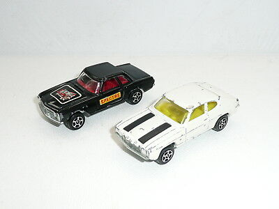 Corgi Rockets juniors James Bond OHMSS Capri & Mercedes *original*