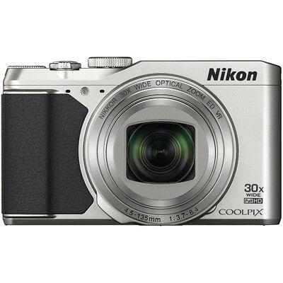 Nikon COOLPIX S9900 16MP HD 1080p 30x Opt Zoom Digital Camera - Silver