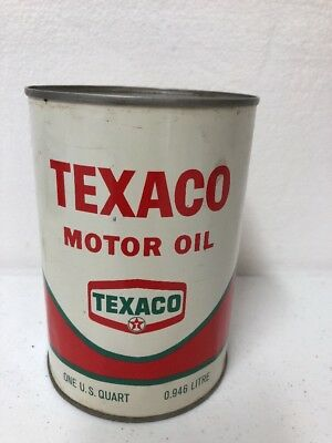 Vintage Texaco Motor Oil 1 Quart Can Full