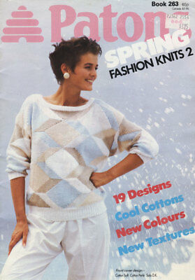 Vintage 1985 Patons Book #263 'Spring Fashion Knits 2' - 19 Designs-Cool Cottons