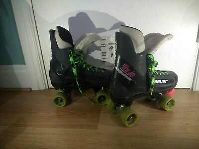 Bauer Turbo Classic Quad Roller Skates Size 8 Bel Air Hockey Wheels