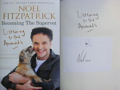 Signed Book Plate in Book - Listening to Animals by Noel Fitzpatrick Hdbk 2018