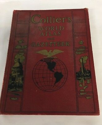 Vintage Collier's World Atlas And Gazetteer - Pre Wwii Maps And U.s. States