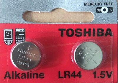 LR44 Toshiba Battery AG13 2 Qt. Ships from USA, Alkaline A76 0%Hg, Exp. 2022