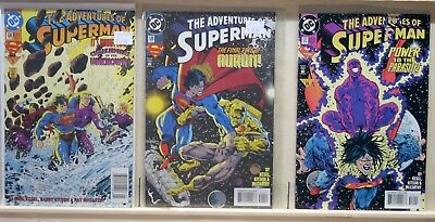Adventures of Superman(V1-1939)#508-509,512-Challengers of the Unknown