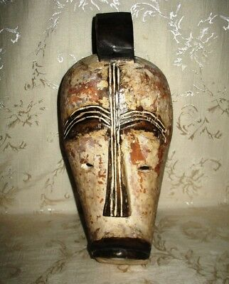 Antique Fang Mask, Gabon, West Africa, Carved Wood with Naturel Pigments