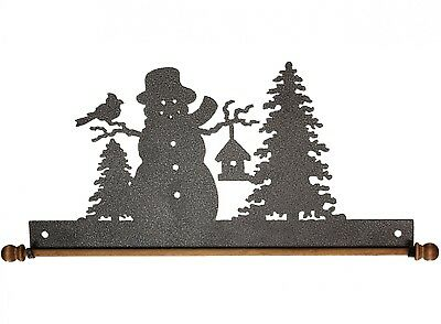 FROSTY SNOWMAN, 12 INCH QUILT HANGER WITH ROD, From Ackfeld Manufacturing NEW