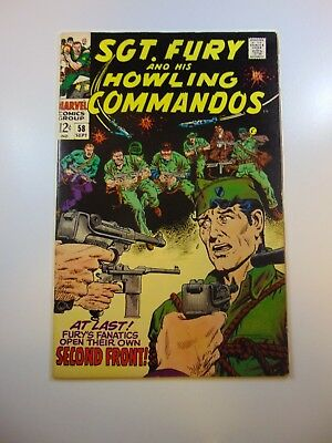 Sgt. Fury and His Howling Commandos #58 FN- condition