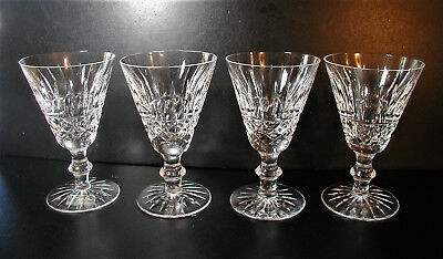 "Waterford Tramore Cut Crystal 5"" Wine Glasses Set of Four"