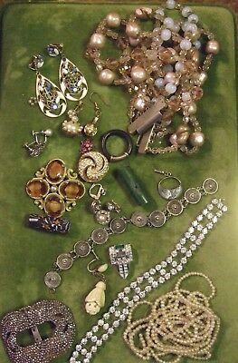 Small Job Lot of Antique/Vintage Jewellery for Spares/Repair/Other