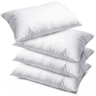 New Luxury Bounce Back Soft Pillow Extra Bouncy Hollowfibre Pillows Pack of 2, 4