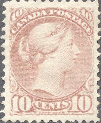 VF Used 10¢ Small Queen #45 Rose Shade - Very Faint Cancel
