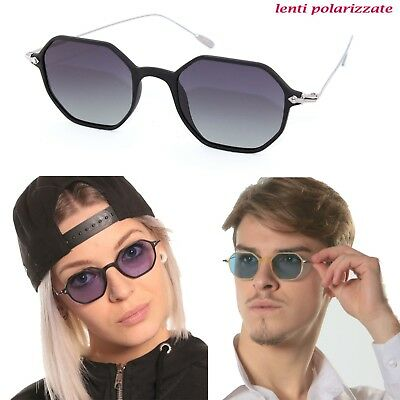Sunglasses SUN LOVERS 17053 vintage retro man woman polarized steel