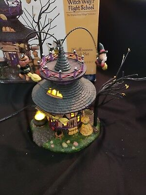 "Dept 56, Halloween, ""WITCH WAY FLIGHT SCHOOL""  56.55347"