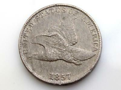 1857 Flying Eagle Cent Estate Coin - Ms To Au High Grade Coin