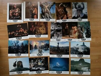 CONAN THE BARBARIAN 1982 -  rare set of 18 German lobby cards SCHWARZENEGGER