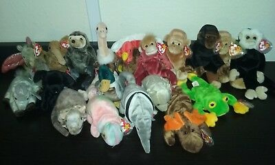 19 Ty Original Beanie Baby Lot with TAGS Mint ConditionBeanie Babies Collection