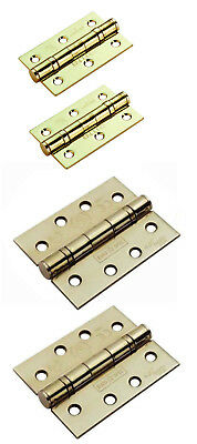 "Polished Brass Door Hinges Graded Ball Bearing 3"" or 4"" Carlisle ENDURO 76/100mm"