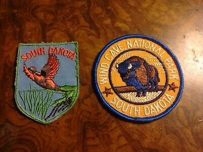SOUTH DAKOTA WIND CAVE NATIONAL PARK Embroidered Souvenir Patches