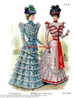1898 Fashions~Delineator~Toilettes NEW Lg Note Cards