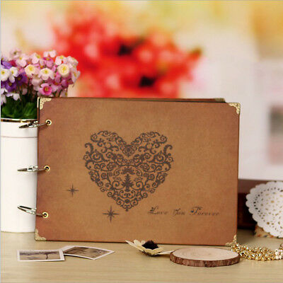 """10"""" DIY Photo Albums Scrapbooking Vintage Style Recording Our Story Retro Heart"""