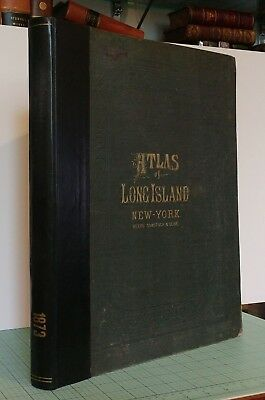 Atlas of Long Island 1873 – Beers, Comstock, & Cline - Superior Bound Condition